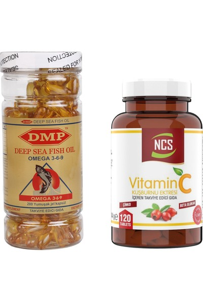 Ncsvitamin C 1000 mg Beta Glucan 120 Tablet Dmp Omega 369 200 Capsül