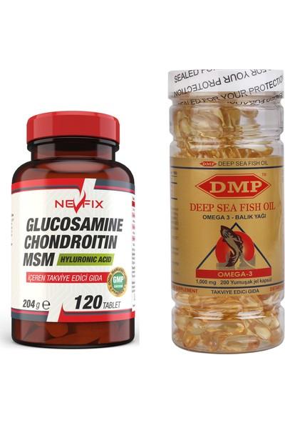 Nevfix Glucosamine Chondroitin Msm 120 Tablet Dmp Omega 3 200 Kapsül