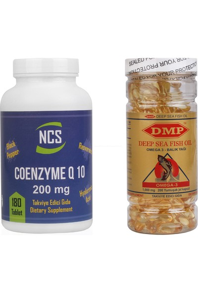 Ncs Coenzyme Q10 200 mg 180 Tablet Dmp Omega 3 1000 mg 200 Kapsül