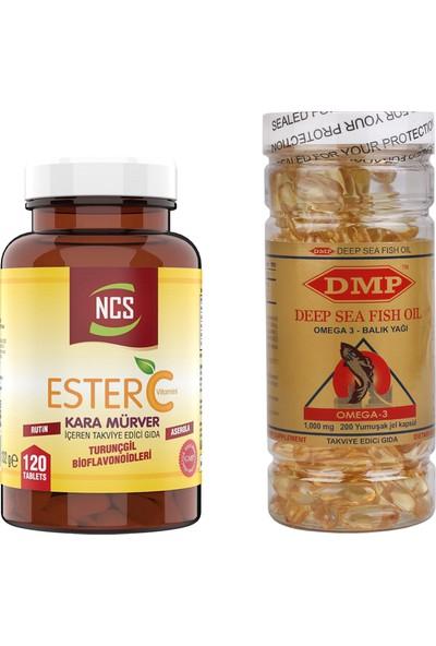 Ncs Ester C Vitamini 1000 mg 120 Tablet Omega 3 1000 mg 200 Capsül