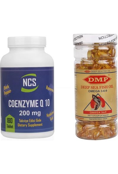 Ncs Coenzyme Q10 200 mg 180 Tablet Dmp Omega 3 6 9 1000 mg 200 Kapsül