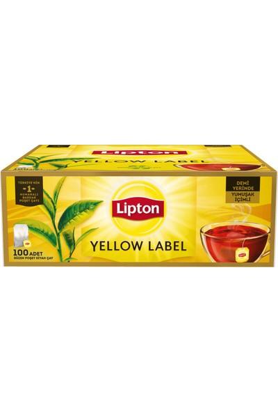 Lipton Bardak Poşet Çay Yellow Label 100'Lü