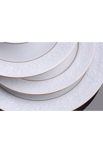 Güral Porselen Bahar Dalı Altın File 24 Parça Yemek Takımı