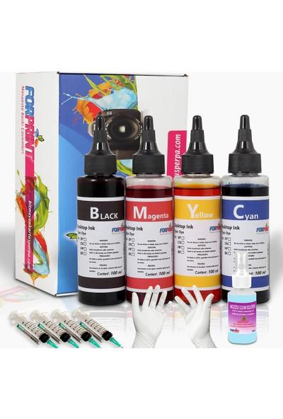 Forprint Epson L1300 L365 L3050 L3060 L200 L210 L Serisi Uyumlu Mürekkep 4x100 ml Renkli