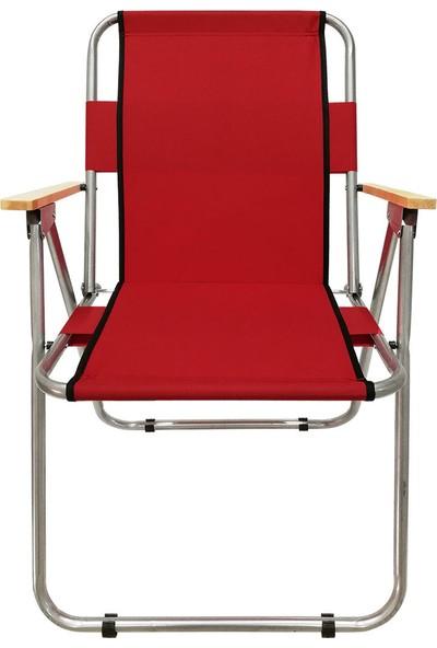 Hastunc Katlanır Kolçaklı Bahçe Sandalyesi Metal
