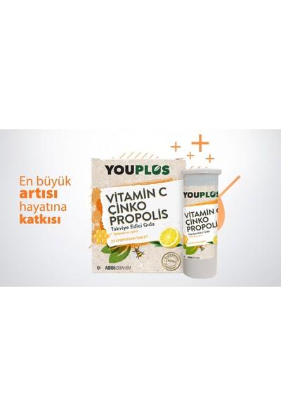 Youplus Vıtamin C & Çinko & Propolis 20 Efervesan Tablet