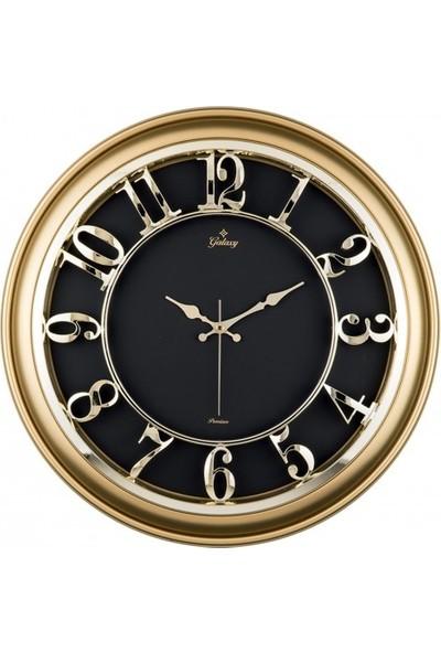 İş Saat Büyük Boy Lüks ve Kabartma Rakamlı Duvar Saati