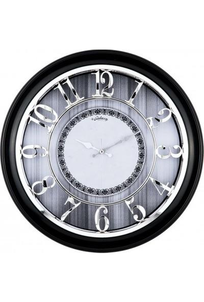 İş Saat Büyük Boy ve Kabartma Rakamlı Lüks Duvar Saati
