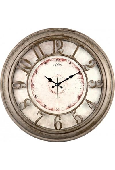İş Saat Büyük Boy Kabartma Rakamlı Dekoratif Duvar Saati