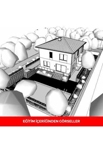 Sanal Öğretim Sketchup 2020 Villa Modelleme Video Öğretim Seti