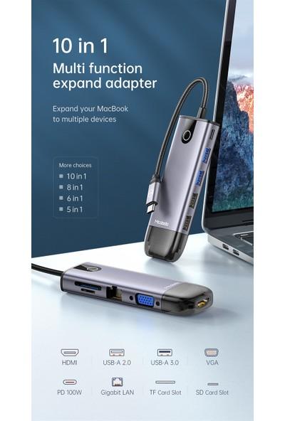 Mcdodo 10 In 1 Type C Macbook Çevirici Çoklayıcı Adaptör HU-7420
