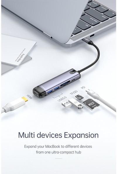 Mcdodo 6 In 1 Type C Macbook Çevirici Çoklayıcı Adaptör HU-7740