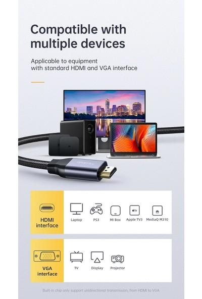 Mcdodo HDMI To VGA Dönüştürücü Kablo 2 mt CA-7770