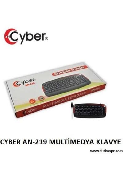 Cyber AN-219 Multimedya USB Q Klavye