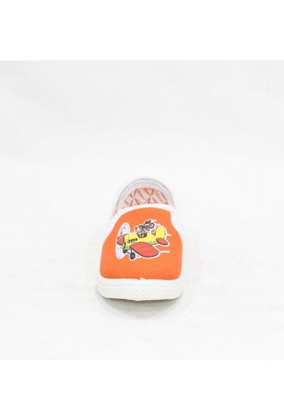 Phantom Turuncu Çocuk Keten Ayakkabı
