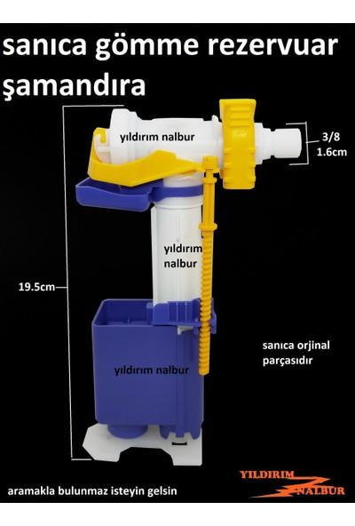 Sanica Gömme Rezervuar 3/8 Şamandırası Rezervuar İç Takım Flatör Diamente Model Doldurma