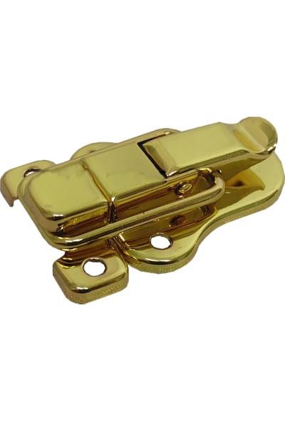 Yıldırım Çanta Tokası 2 Adet Sarı Renk Gold Altın Renk Kutu Kilidi Sandık Bavul Kilidi Çengelli