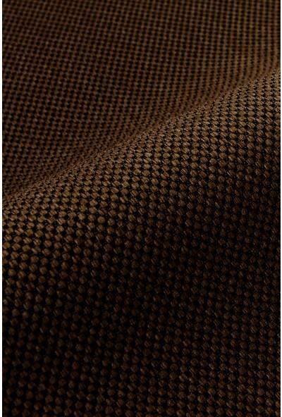 Belle Cose Country Tarz Hasır Termal Karartma Blackout Kahverengi Fon Perde Tek Kanat 100 x 260 cm