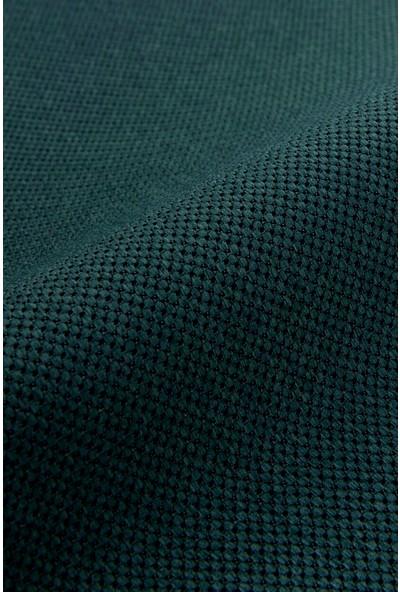Belle Cose Country Tarz Hasır Termal Karartma Blackout Zümrüt Yeşil Fon Perde Tek Kanat 100 x 270 cm
