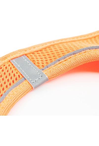 TailPetz Airmesh Göğüs Tasması Neon Turuncu XS