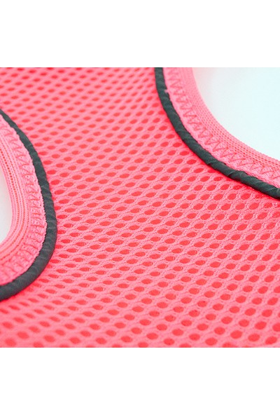 Tailpetz Airmesh Neon-Pembe Göğüs Tasması L