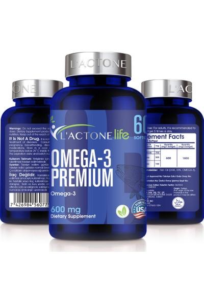 Lactone Omega - 3 Komplex 600 mg / 60 Softjel