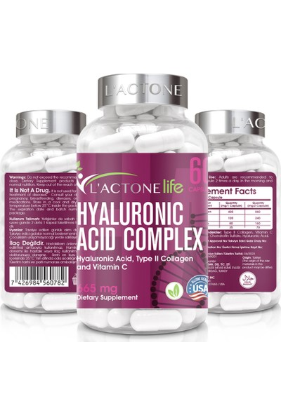 Lactone Hyaluronic Asid Complex 665 mg / 60 Kapsül