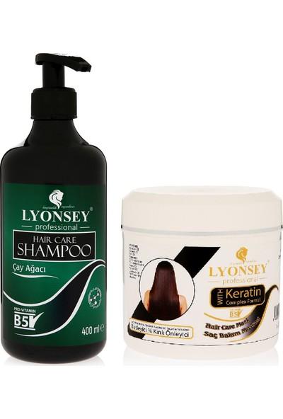 Lyonsey Çay Ağacı Şampuanı 400 ml + Keratin Komplex Saç Maskesi 500 ml