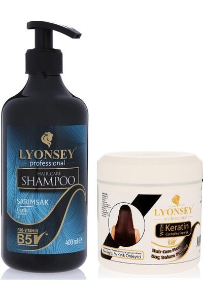 Lyonsey Sarımsak Şampuanı 400 ml + Keratin Komplex Saç Maskesi 500 ml