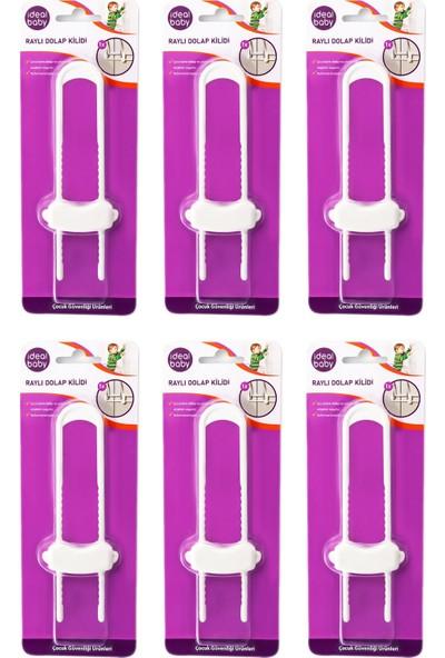 Ideal Baby 6 Paket Raylı Dolap Kilidi