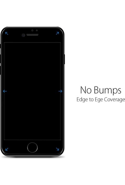 Spigen Apple iPhone SE 2020 / iPhone 8 / iPhone 7 Cam Ekran Koruyucu Tam Kaplayan Full Cover Black - AGL01314