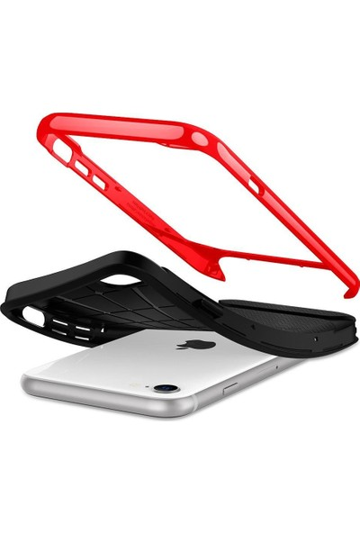 Spigen Apple iPhone SE (2020) / iPhone 8 / iPhone 7 Kılıf Neo Herringbone Dante Red - ACS00953