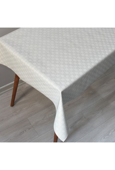 Dede Astarlı Silinebilir Pvc Leke Tutmaz Muşamba Masa Örtüsü 100 x 140 cm