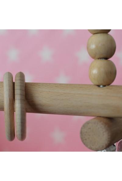 Berra Hayat Bebek Salıncağı Tavana Asılan Ahşap Pembe, Yıldız Modelli Salıncak