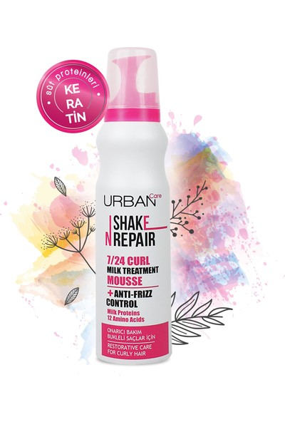 URBAN Care Shake N Repair 7 / 24 Curl Milk Treatment Mousse 150 ml