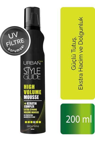 URBAN Care Style Guide High Volume Mousse 200 ml