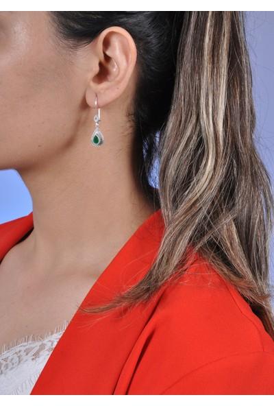Midyat Gümüş Dünyası Damla Model Telkari Gümüş Kadın Küpe