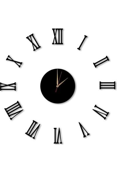Dekolia Göbek Duvar Saati Büyük Ahşap Romen Rakamlı ART1130