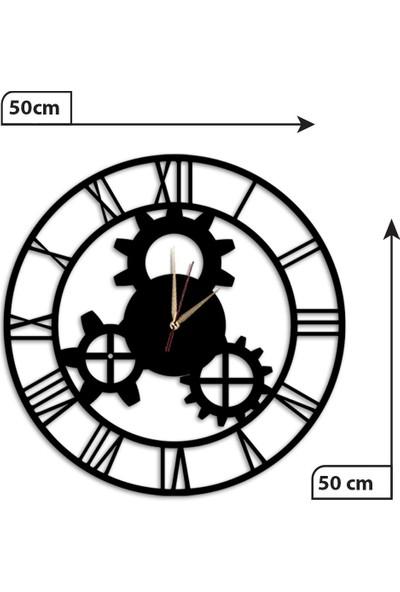 Dekolia Klasik Duvar Saati Büyük Ahşap Romen Rakamlı ART1139