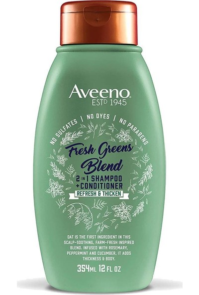 Aveeno Fresh Greens Blend 2in1 Şampuan 354 ml