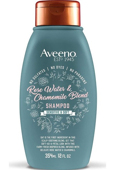 Aveeno Rose Water & Chamomile Blend Şampuan 354 ml