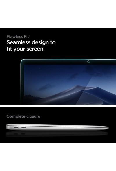 "Spigen MacBook Air 13"" (2018 / 2020) / Macbook Pro 13"" (2017 / 2020) ile Uyumlu Cam Ekran Koruyucu Tam Kaplayan Full Cover Black - AGL00083"