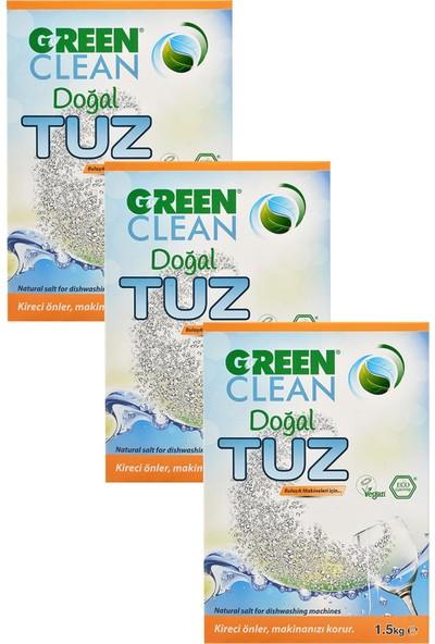 U Green Clean Bulaşık Makinası Tuz 1,5 kg 3'lü Set