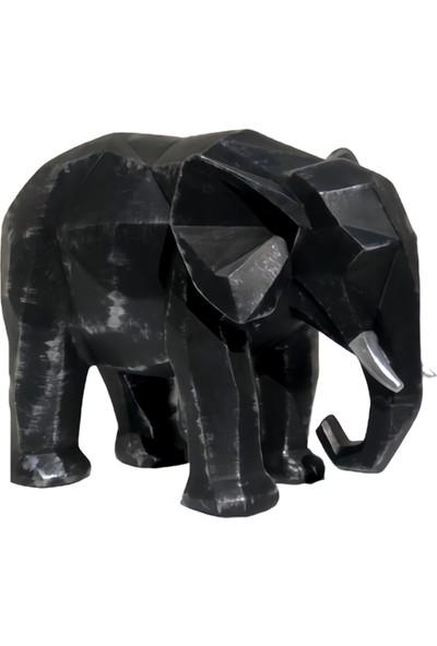 Lime Art Shop Dekoratif Siyah Fil Biblo