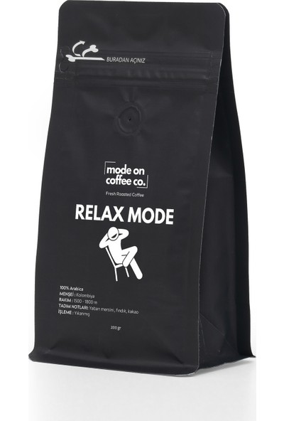 Mode On Coffee Co. Relax Mode Filtre Kahve 200 gr