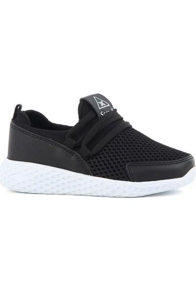 Scor-X Bağcıksız Erkek Çocuk (26-35) Siyah Spor Ayakkabı