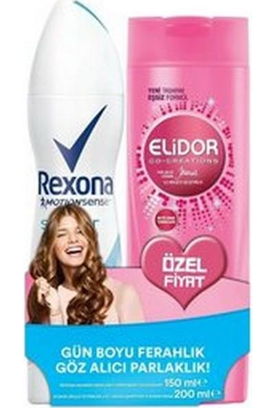 Rexona Shower Fresh 150 ml Deodorant + Elidor Şampuan Güçlü ve Parlak 200 ml