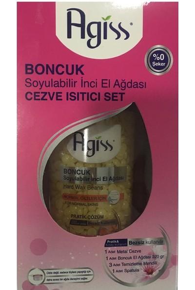 Agiss Boncuk Soyulabilir Inci El Ağdası- Cezve Isıtıcı Set 220G