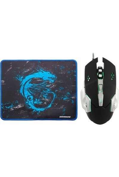 MF Product Strike 0110 Kablolu Rgb Gaming Mouse + Mouse Pad Gri