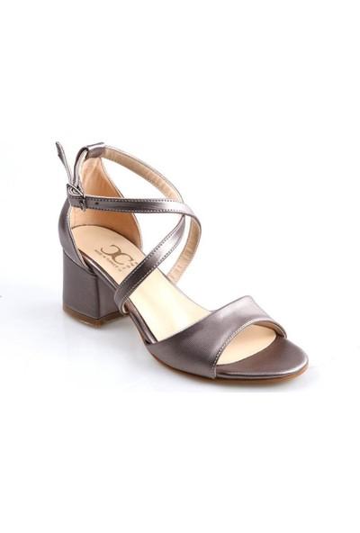 Oc ŞR175 Kısa Topuk Platin Günlük Kadın Sandalet